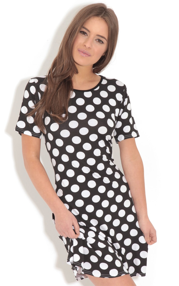 Ruth Black Spot Swing Dress 1