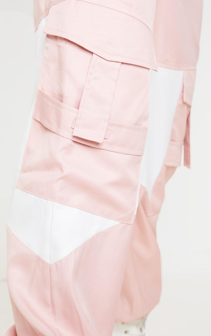 Pink Cargo Contrast Pocket Trouser 5