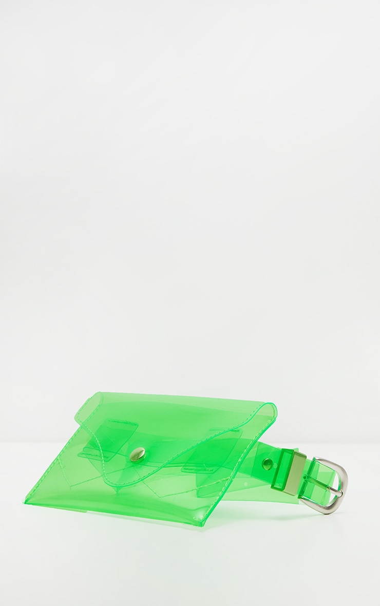 Green Clear Acrylic Fanny Pack 2