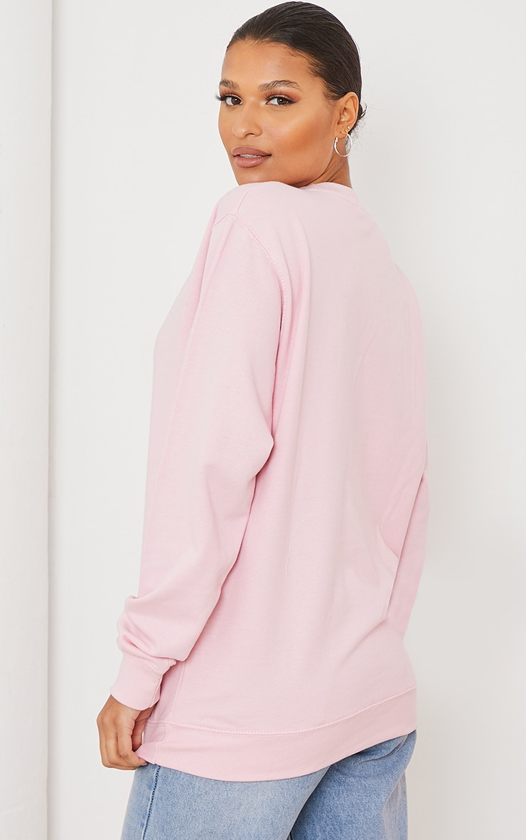 Pink All I Want For Christmas Is A Unicorn Sweatshirt 2