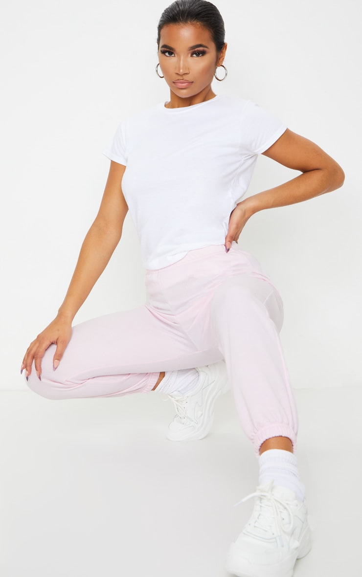 Pastel Pink Casual Jogger 1