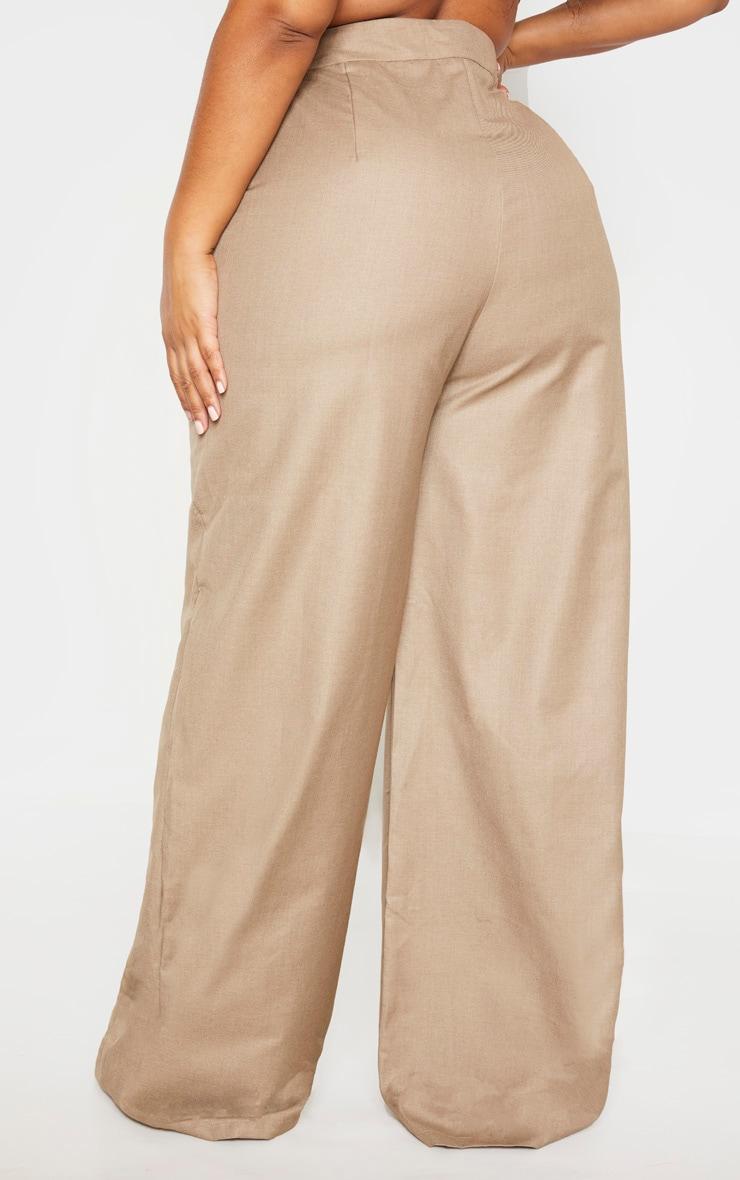Plus Stone Woven Extreme High Waist Wide Leg Pants 4