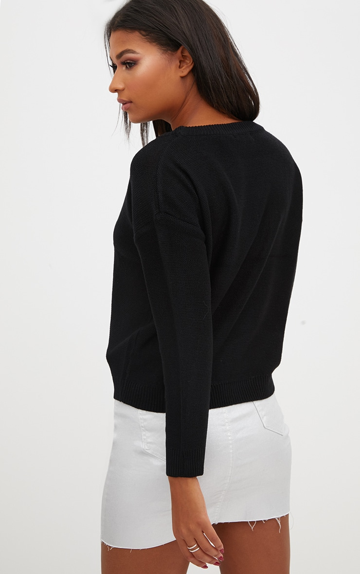 Black Boxy Basic Jumper 2