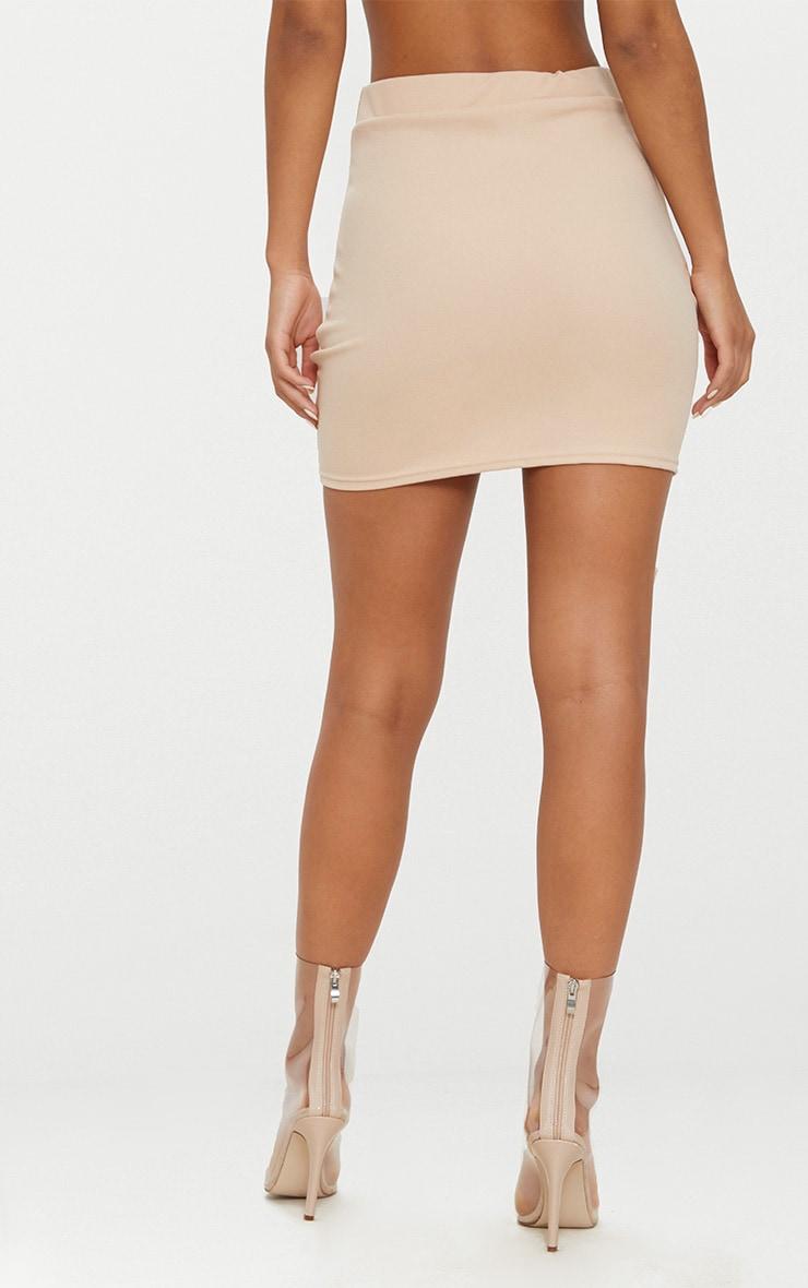 Stone Double Split Lace Up Mini Skirt  3