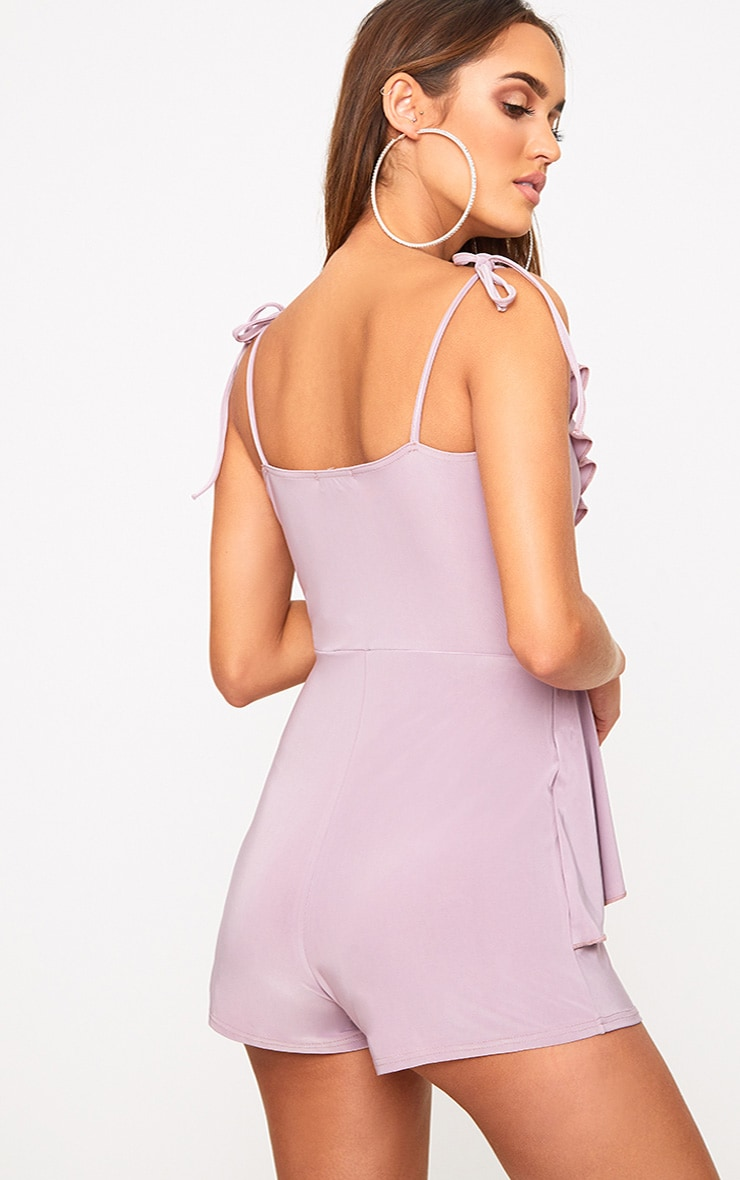 Lilac Slinky Wrap Playsuit 2
