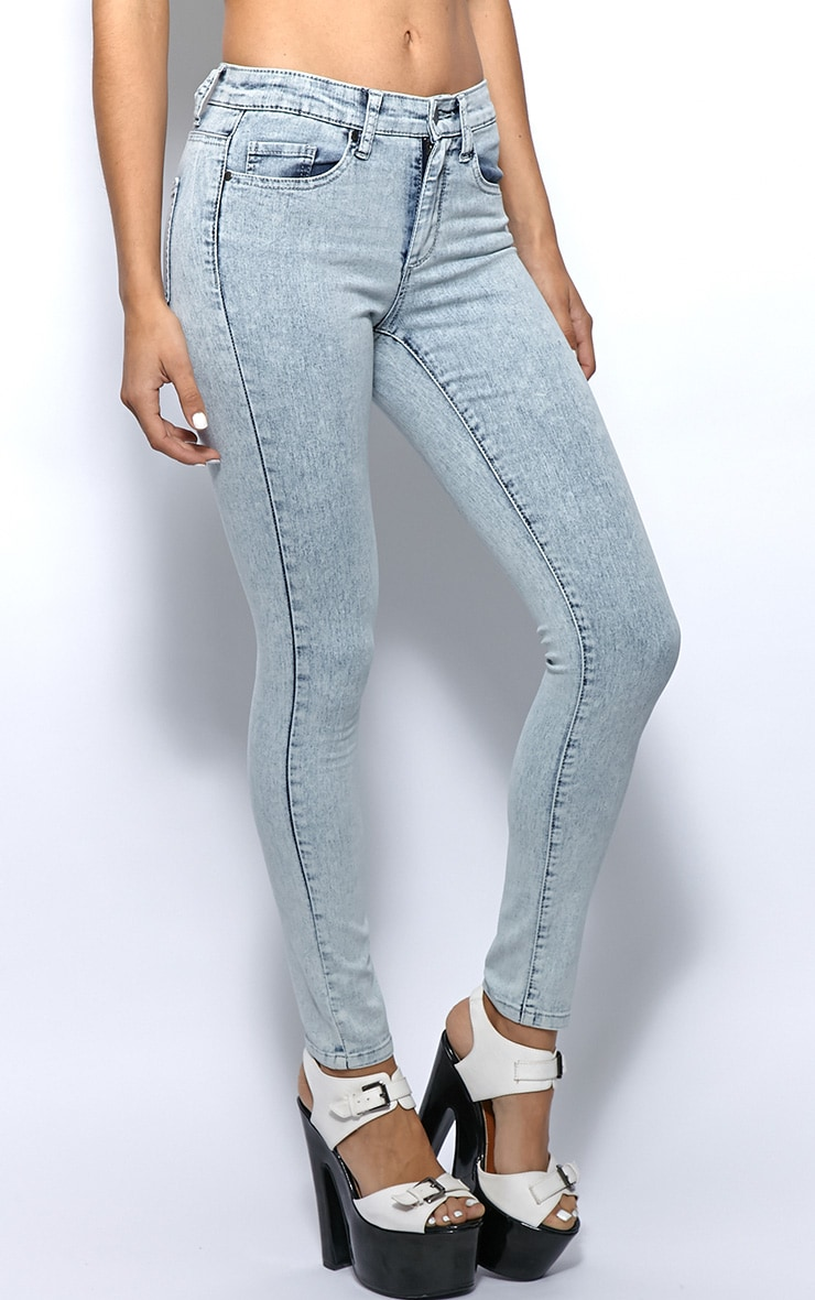 Kimmy Light Blue Ankle Grazer Skinny Jeans -6 4