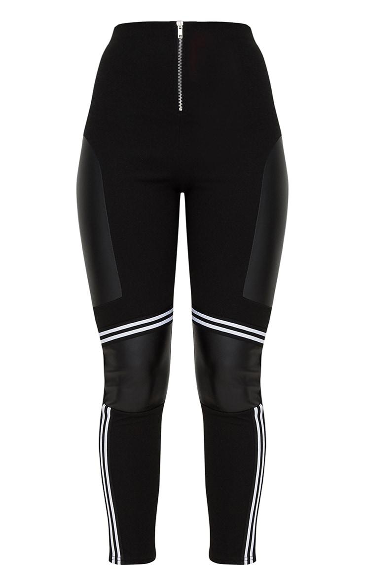 Black Motocross Panelled Trousers  3