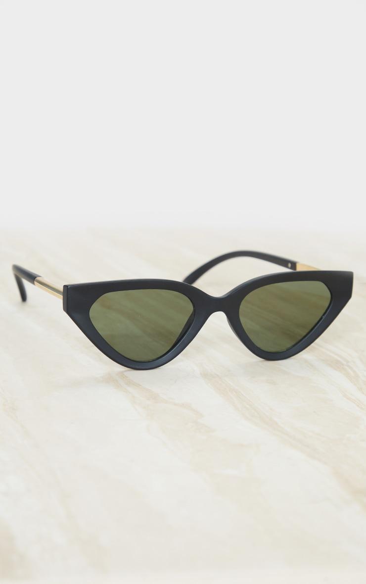Black Matte Cat Eye Sunglasses 2