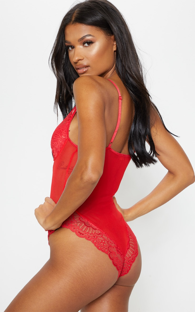 Red Scallop Lace Body 2