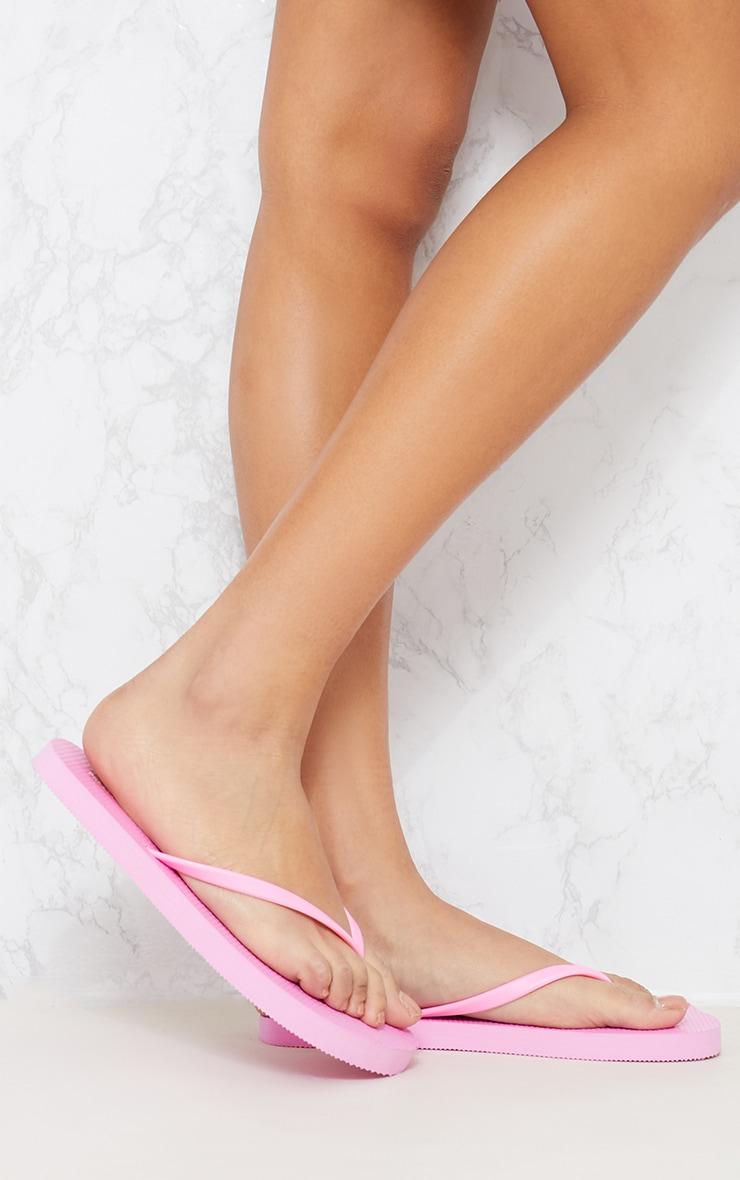 White & Pink Flip Flop 2 Pack 4