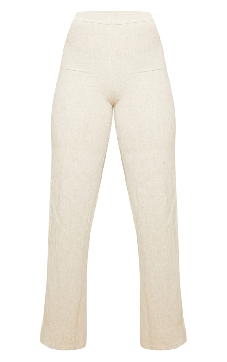Sand Woven Wide Leg Trousers 5