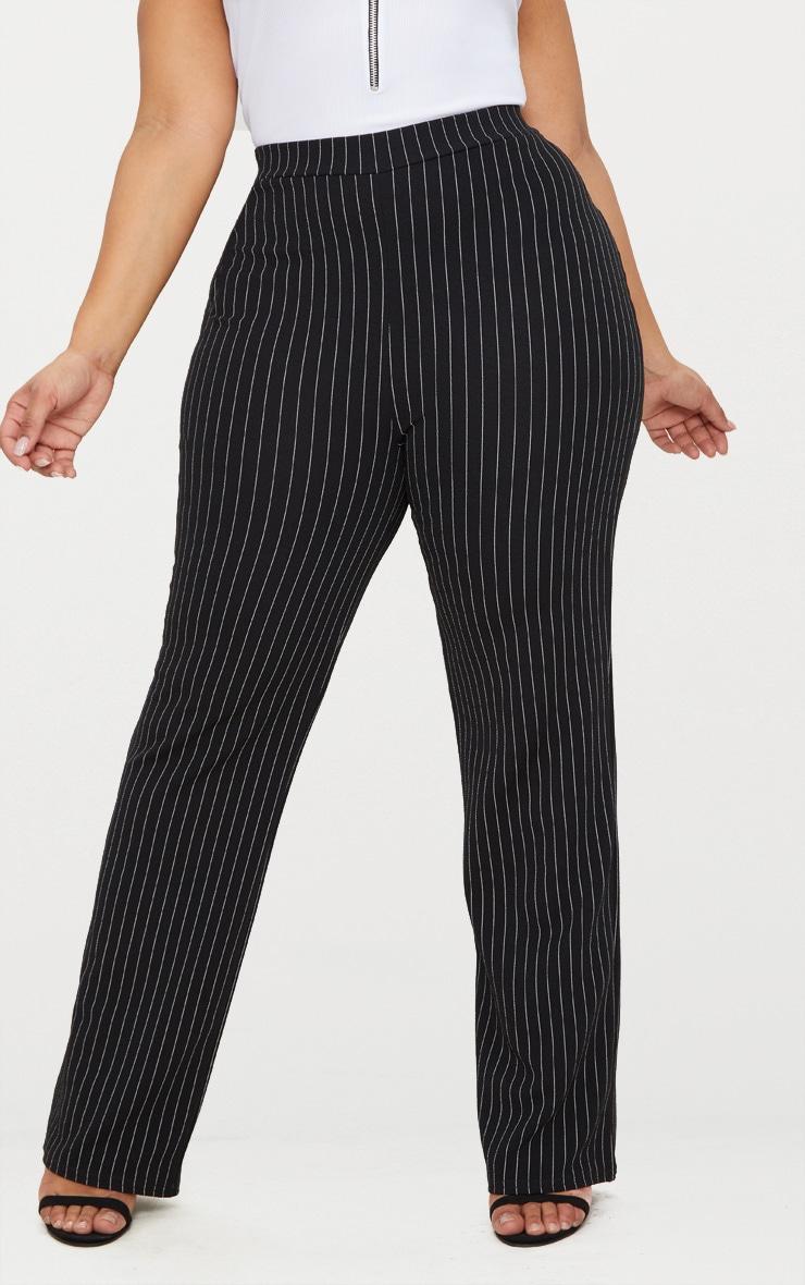 Plus Black Pinstripe Trousers 2