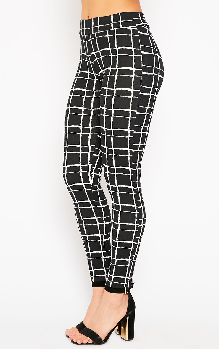 Lesia Black Grid Pants 3