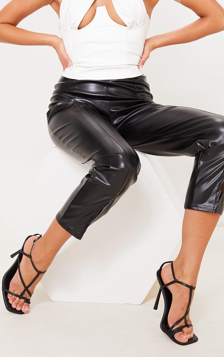 Black PU Toe Loop Strappy Heeled Sandals 2