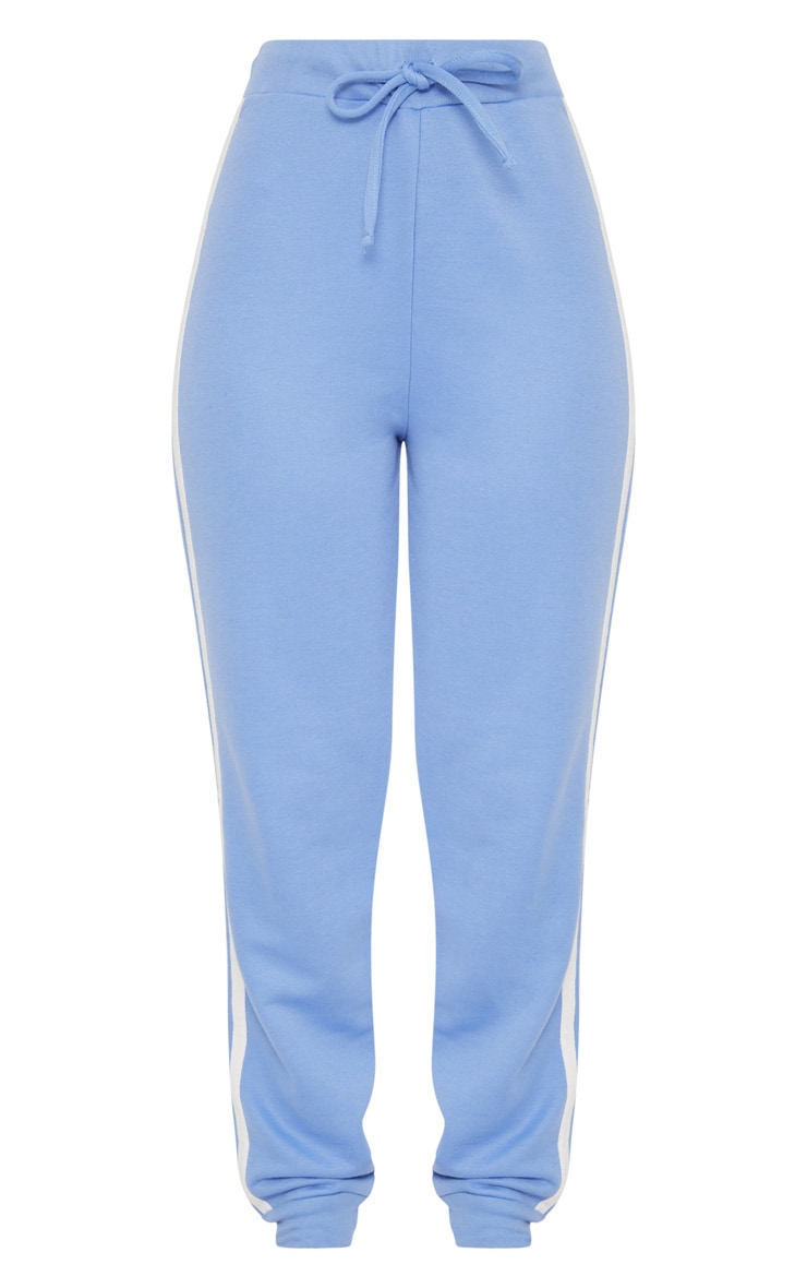 Baby Blue Contrast Stripe Joggers 3