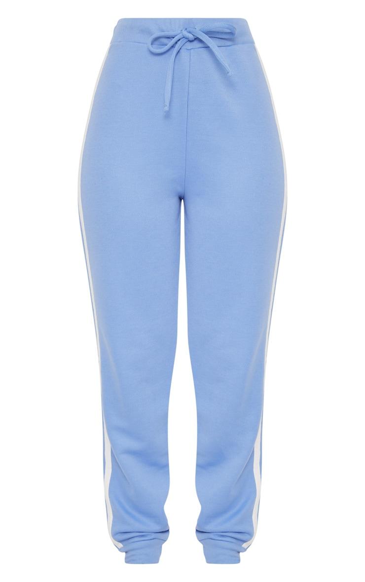 Baby Blue Contrast Stripe Track Pants 3
