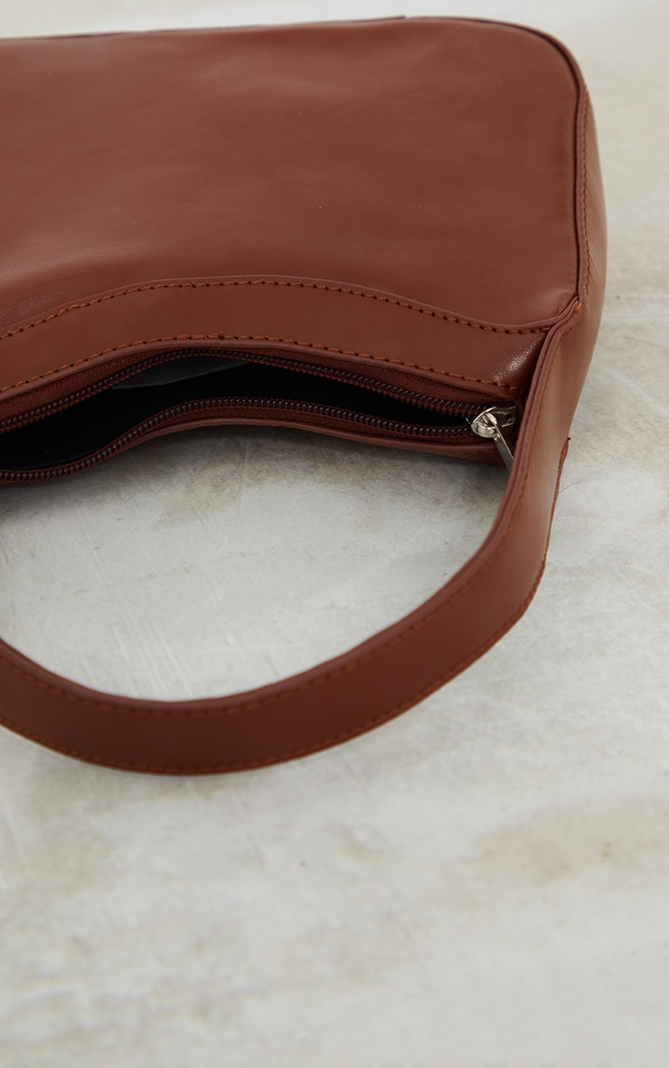 Chocolate PU Shoulder Bag 3