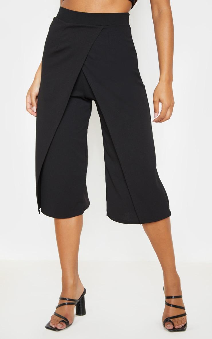 Jupe-culotte portefeuille noire 2