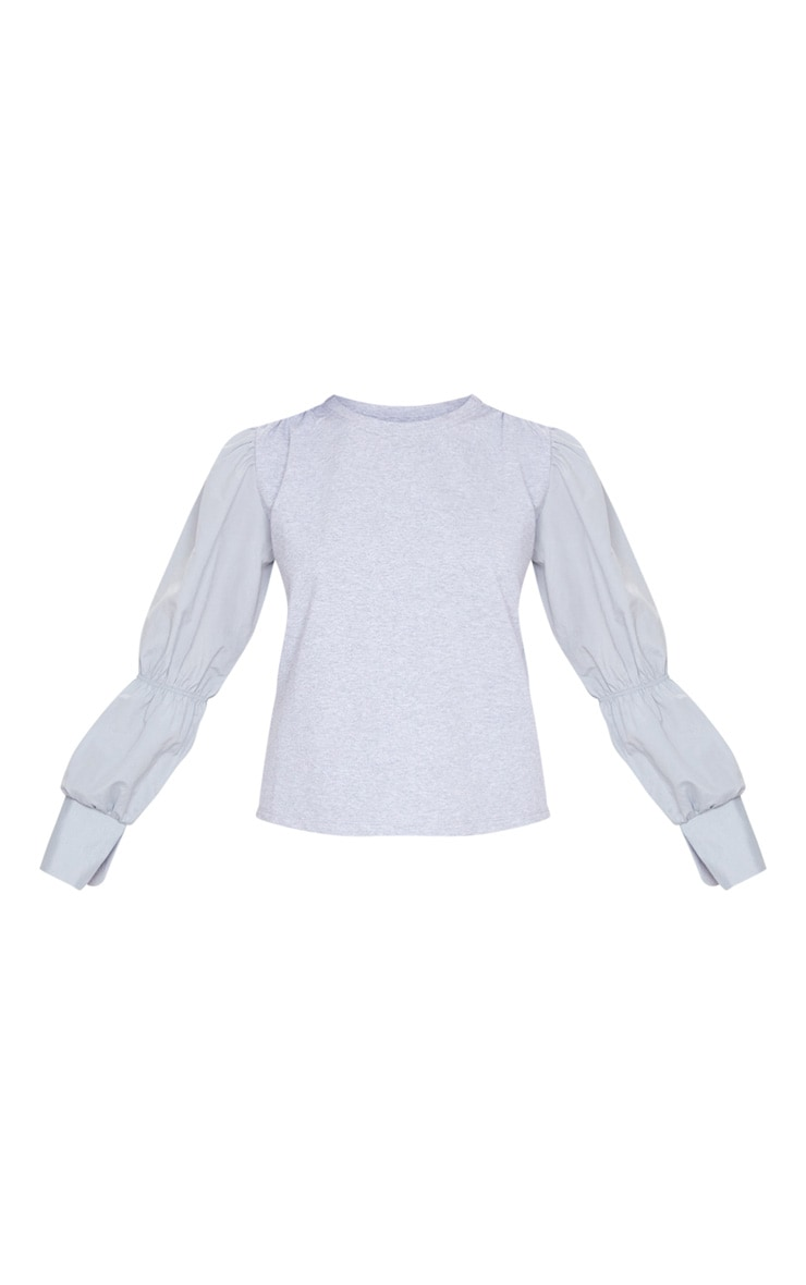 Grey Marl Ruched Longsleeve Top 5