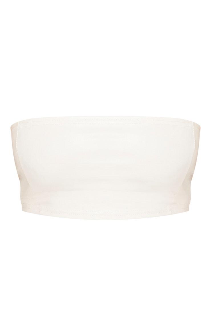 Shape Cream PU Seam Detail Bandeau Top 3