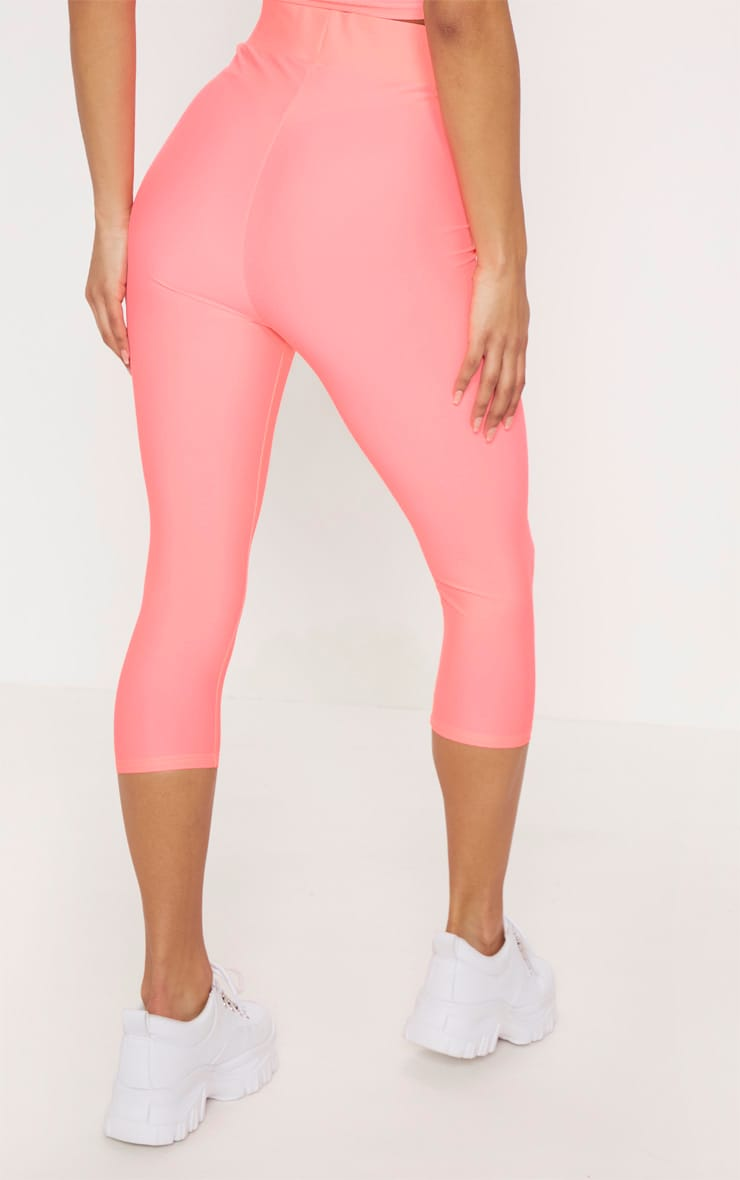 Pink Basic Cropped Gym Legging 4