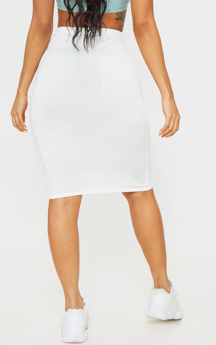 Cream Basic Midi Skirt 3