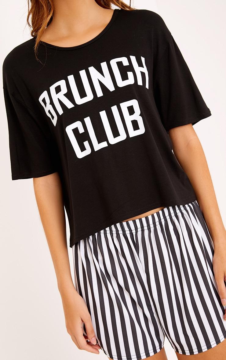 Brunch Club Black PJ Set  5