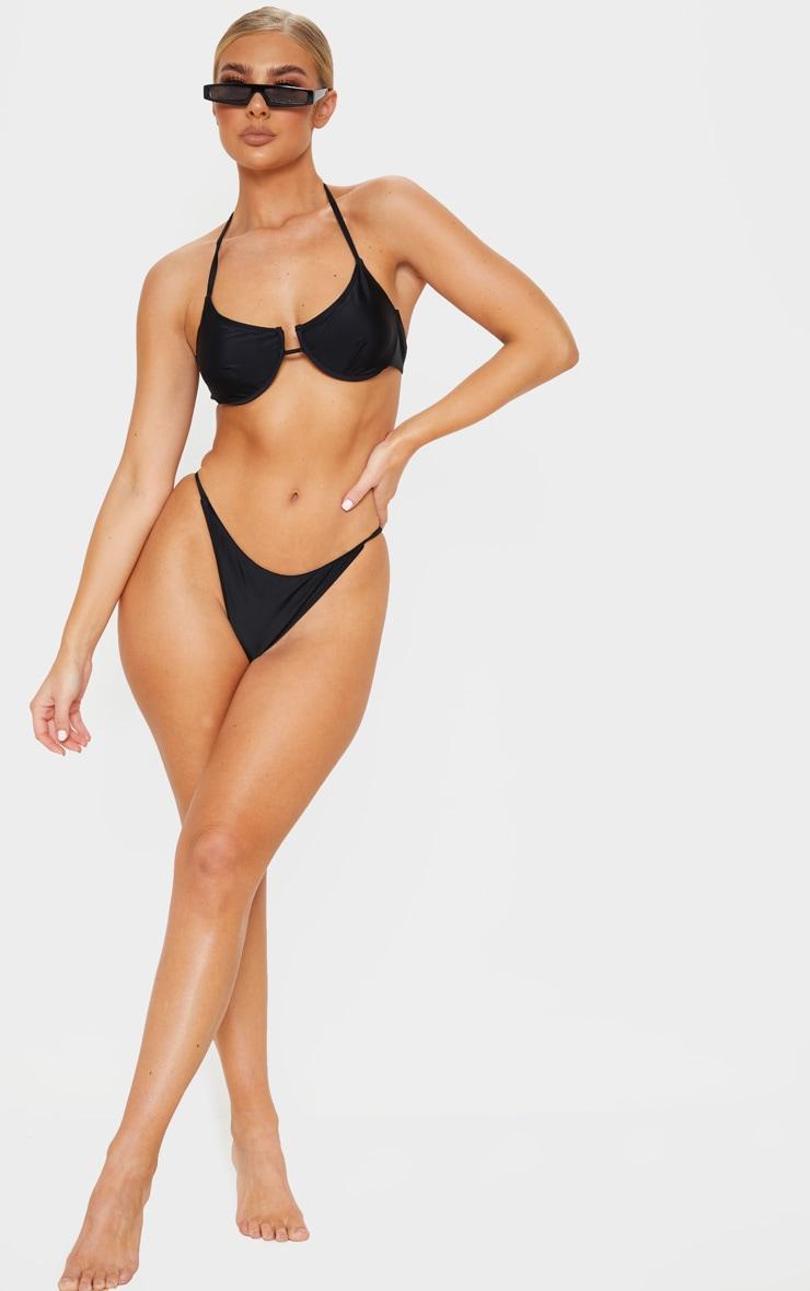 Black Tanga Bikini Bottoms 4
