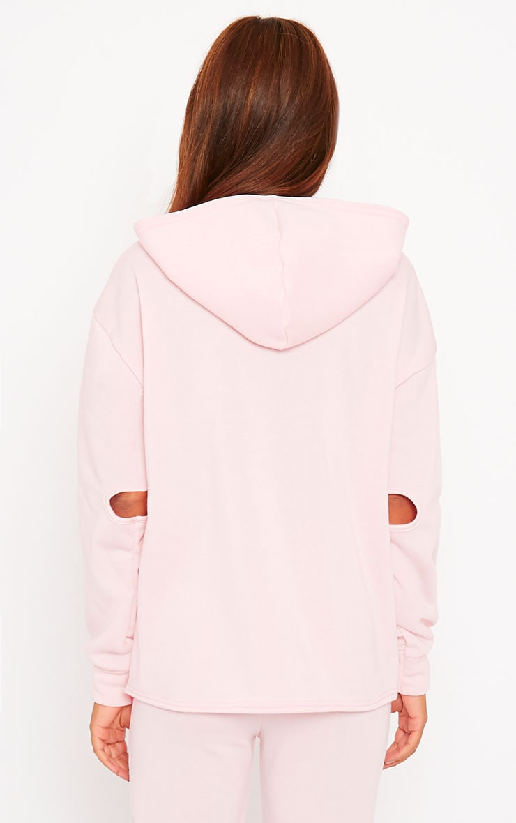 Dionne Pink Slit Elbow Sweater 2