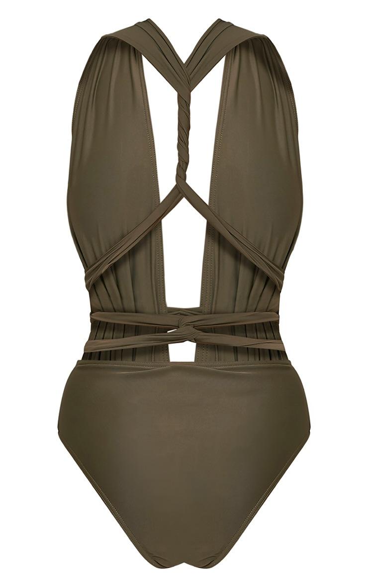 Amanda Khaki Multiway Swimsuit 4