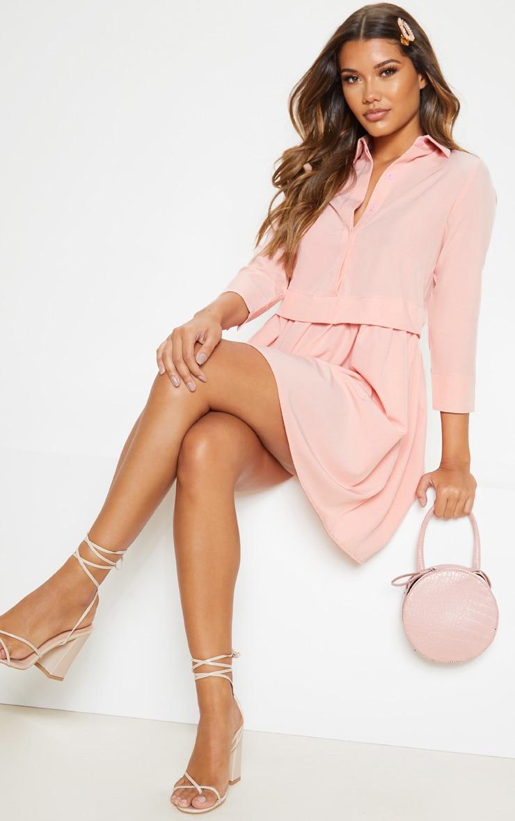 Pink Layer Shirt Dress 4