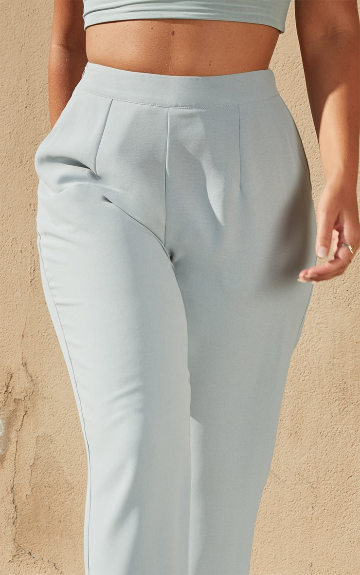 Petite Dark Mint Tailored Pants 4