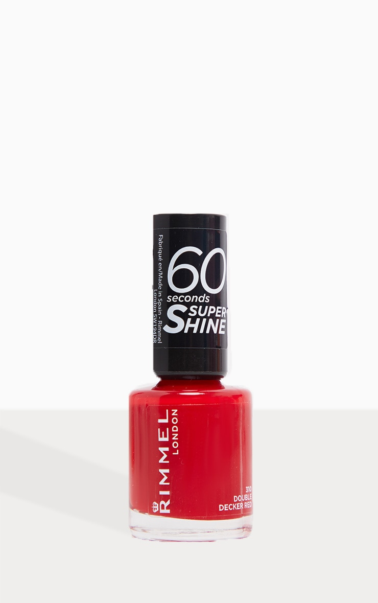 Rimmel 60 Seconds Super-Shine Nail Polish Double Decker Red 3