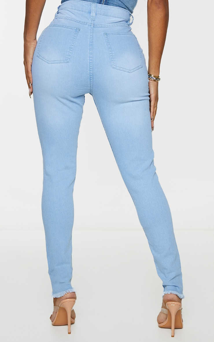 Shape Light Wash High Waist Skinny Jeans 3