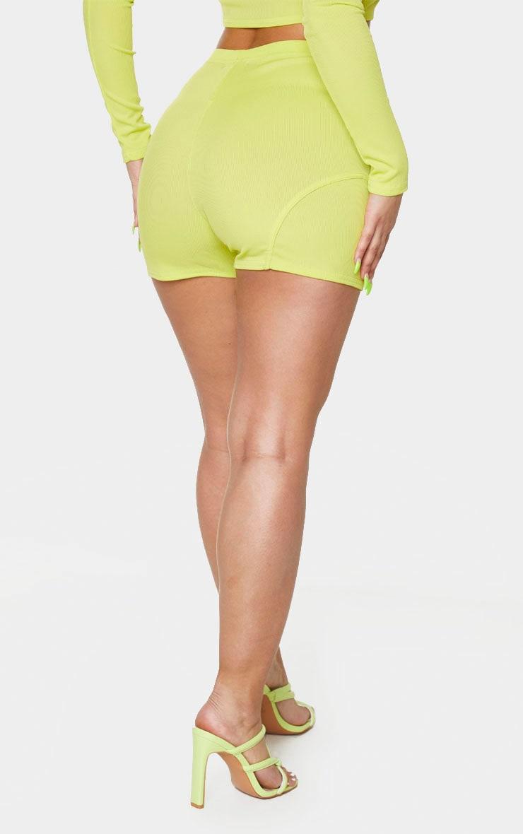 Lime Rib High Waist Bike Shorts 3