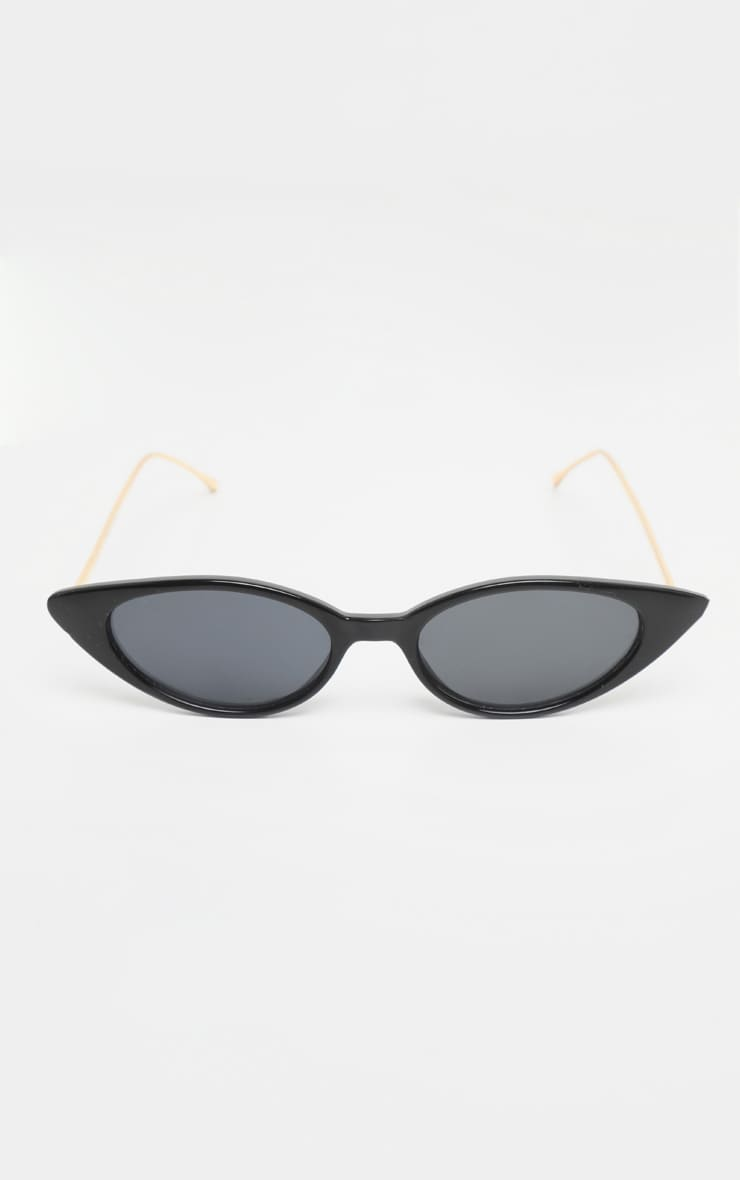 Black Cat Eye Retro Frame Sunglasses 2