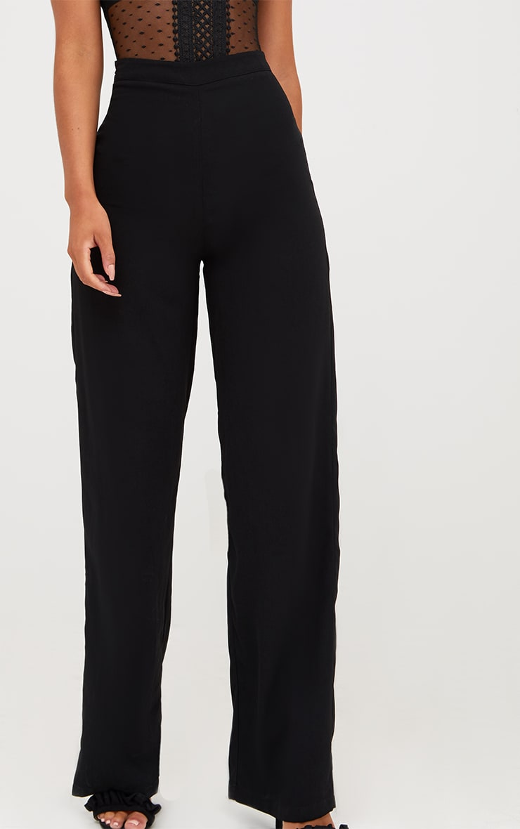 Black Wide Leg High Waisted Trousers 6