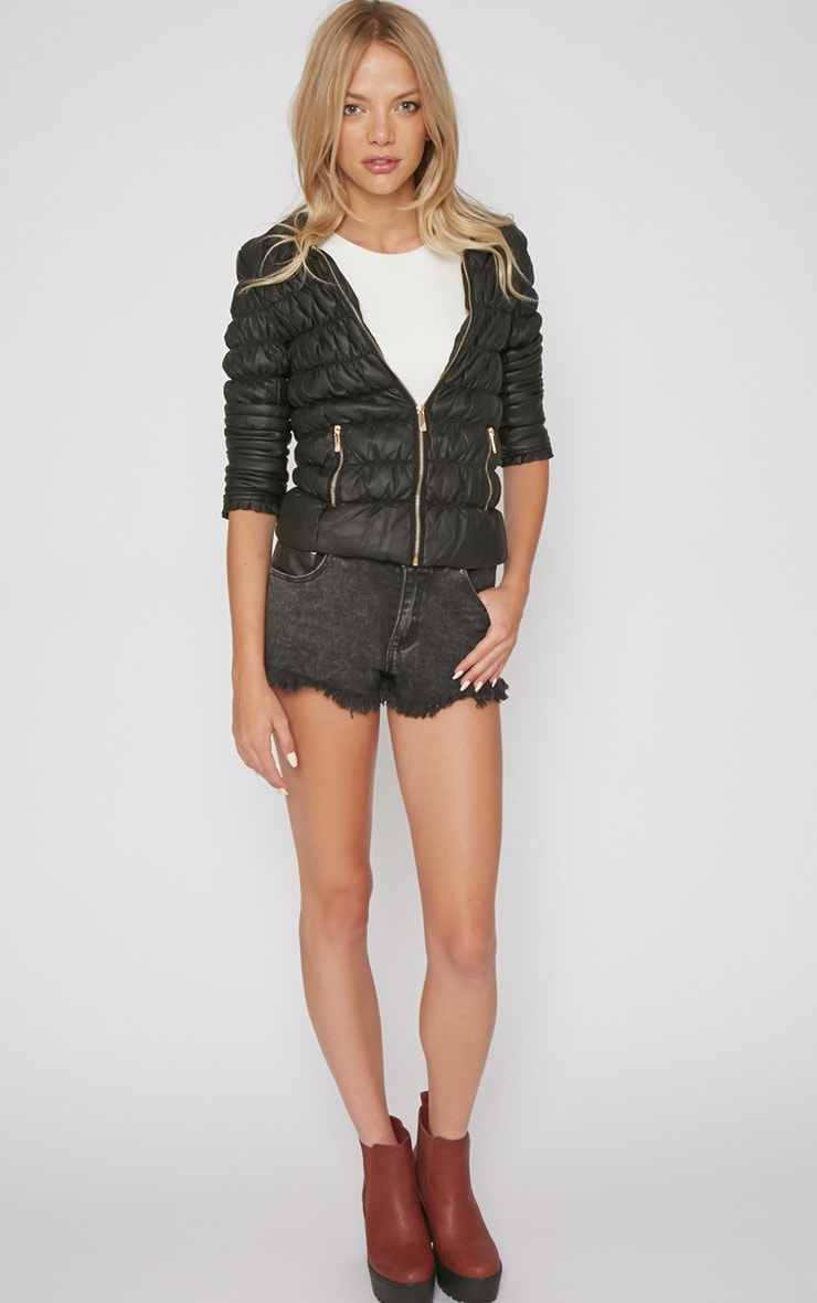 Natasha Black Padded Jacket 4