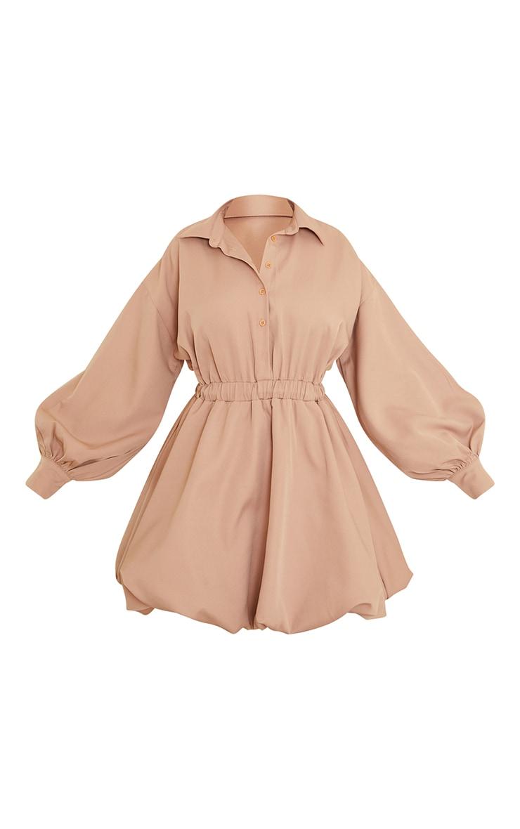 Stone Puffball Hem Shirt Dress 5