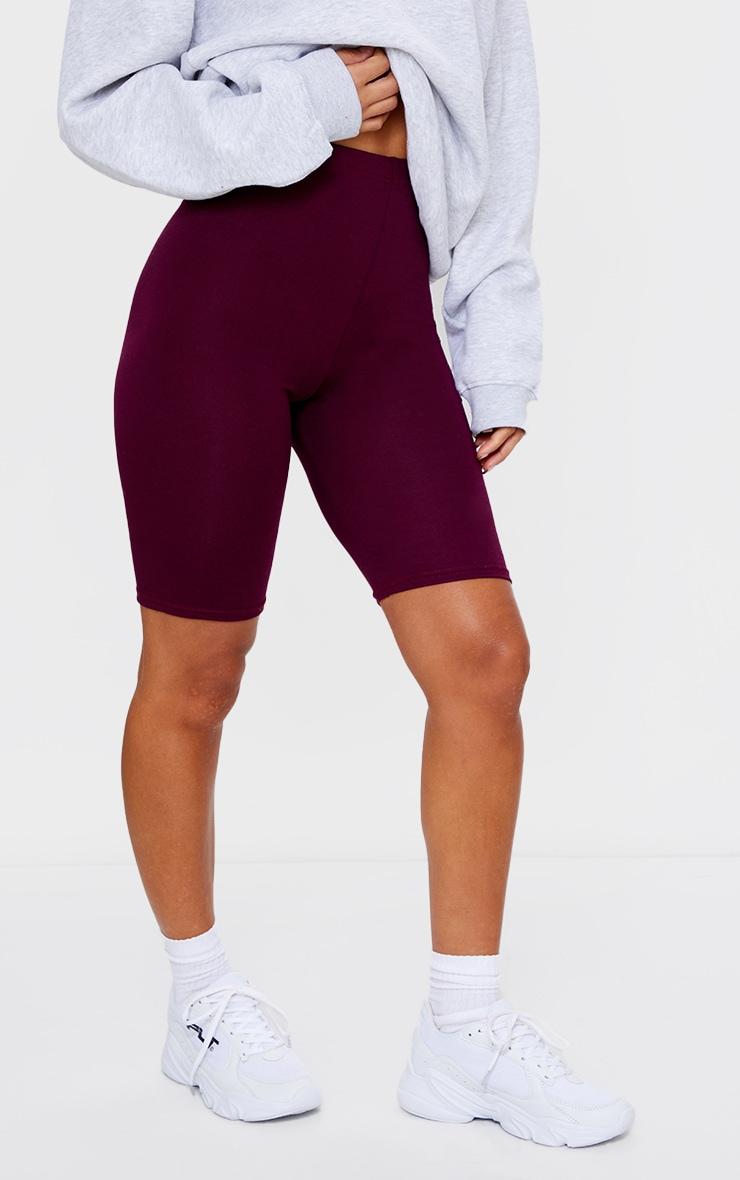 Maroon Basic Bike Shorts 2