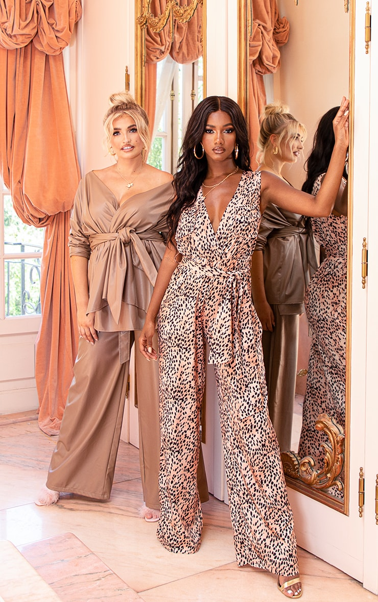 Nude Mixed Polka Dot Jumpsuit 6