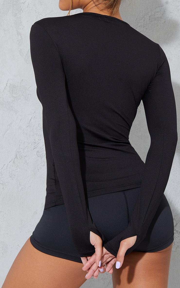 Black Long Sleeve Gym Top 4