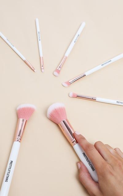 PRETTYLITTLETHING 7 Piece White Brush Set