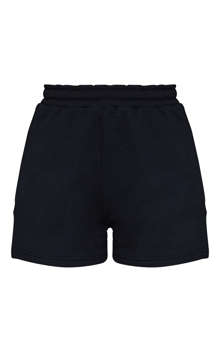 Black Sweat Pocket Shorts 6
