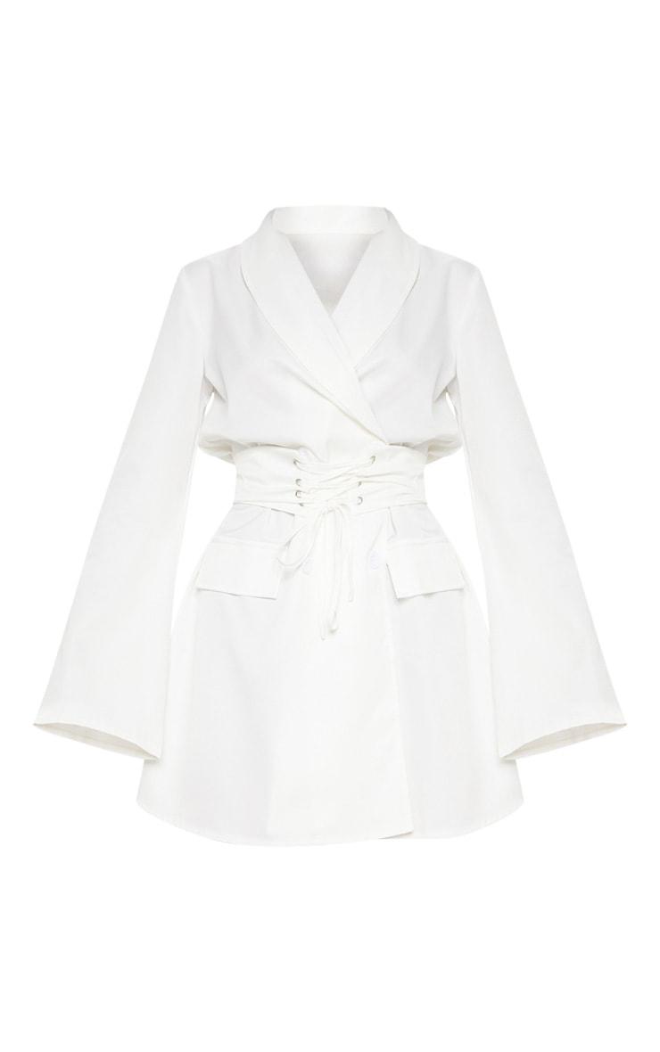 White Corset Blazer Dress 3