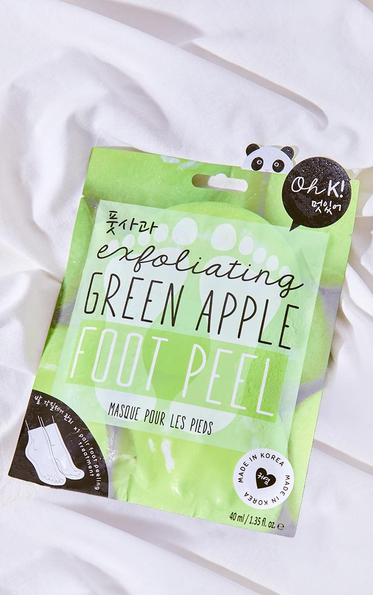 Oh K! Exfoliating Green Apple Foot Peel 1