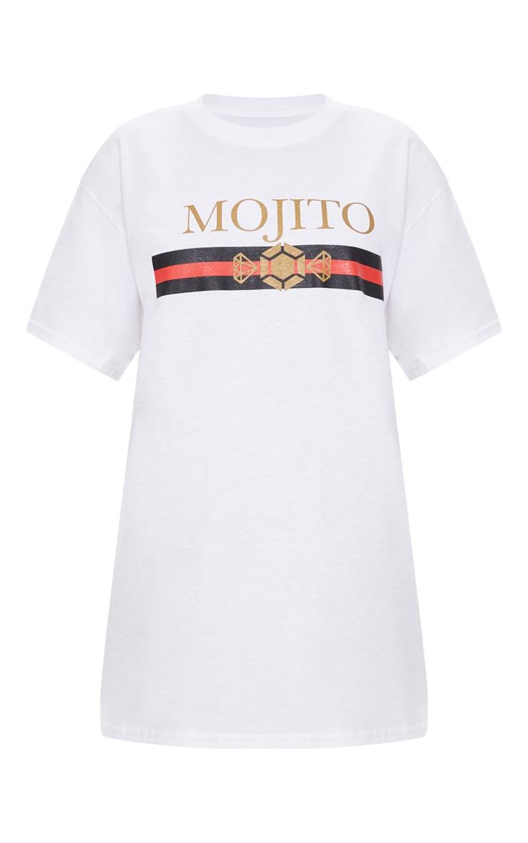 White Mojito Slogan Oversized T Shirt 3