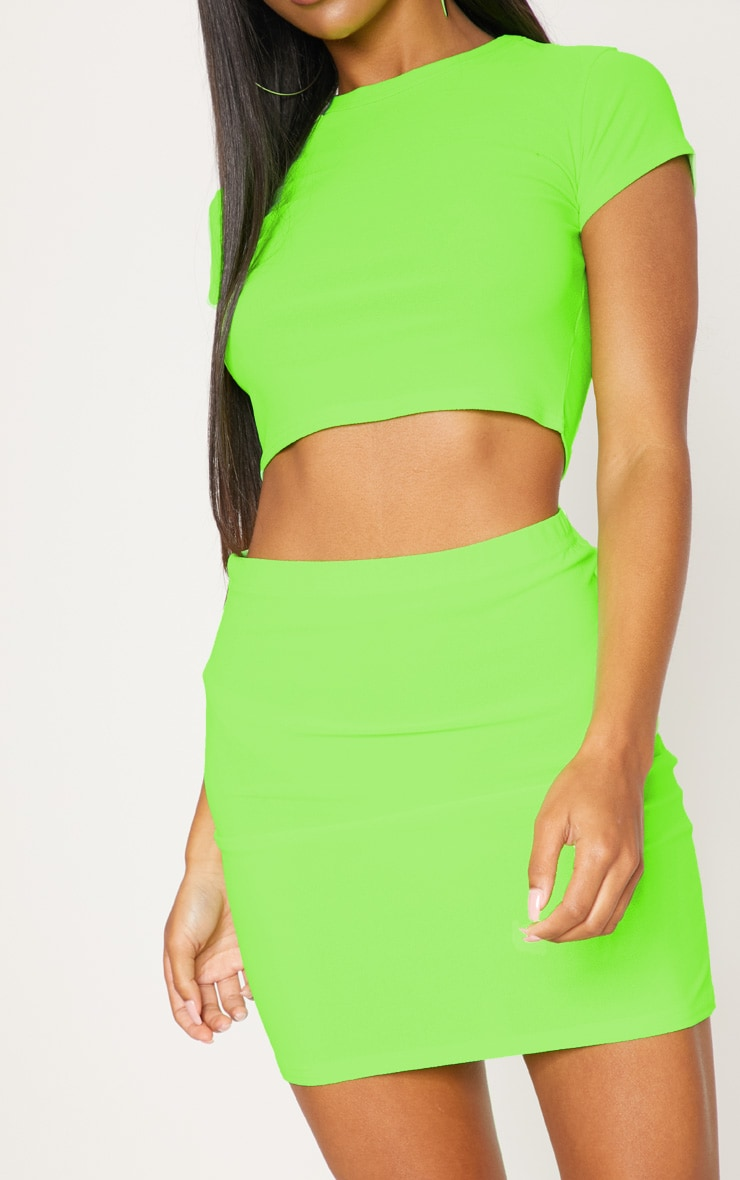 Lime Mini Skirt 6