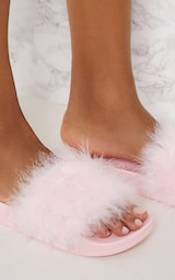Pink Feather Slides 5