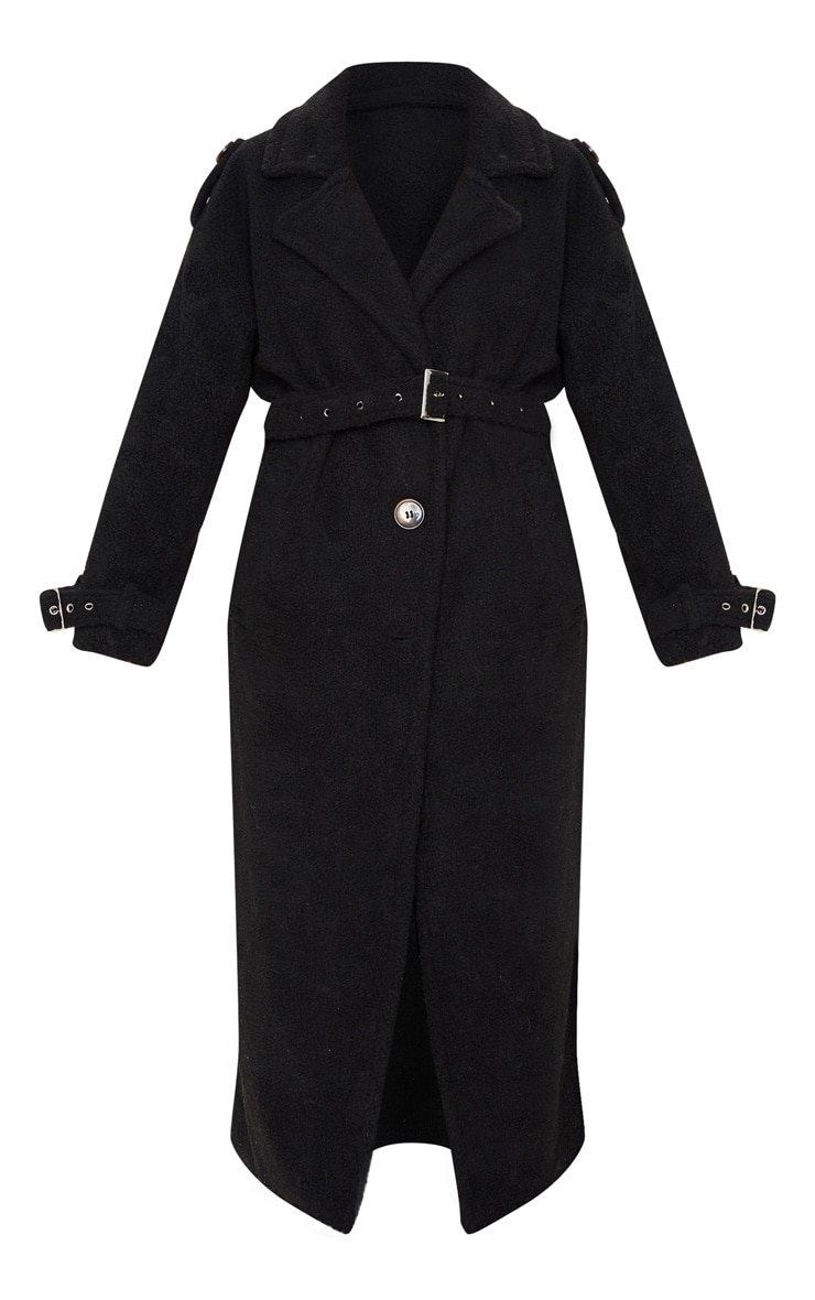 Black Borg Oversized Belted Coat 3